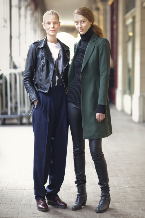 @SuviRiggs @NextModels & Alana Zimmer @EliteFrance after Hakaan FW13