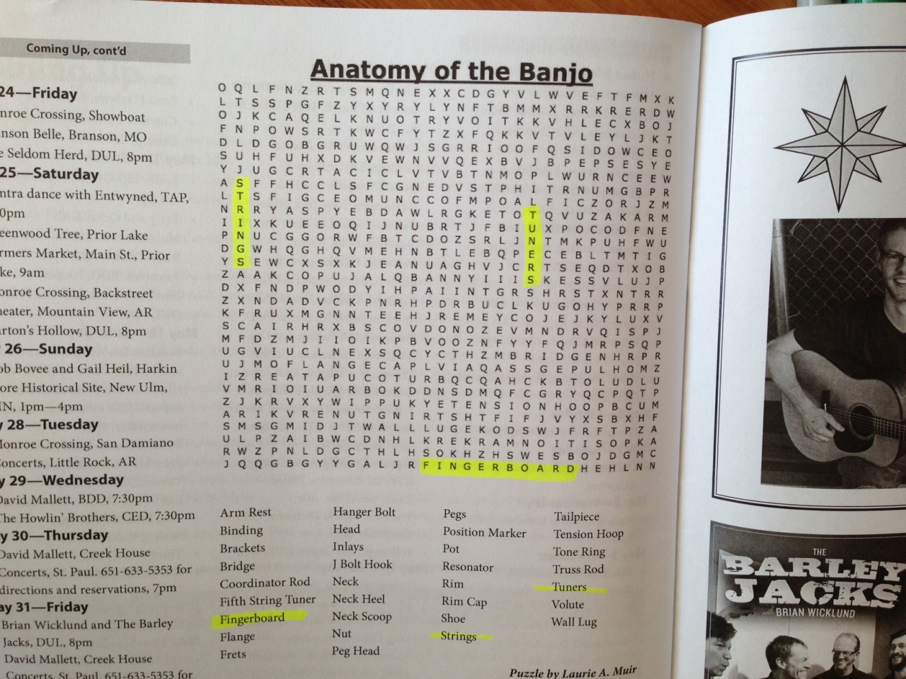 Beastly Anatomy of the Banjo wordsearches, requests for songs on cassettes and windows on a sunny Mississippi river makes a happy Northern Community Radio staff.
