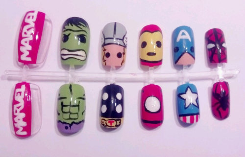Manicure Monday: The Avengers nail set, by MaryMars