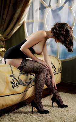 thejaguarr:  She's just taunting me with those stockings.