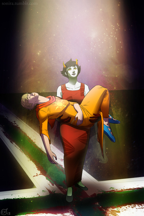 sonira-art:  I recently had a rather strange dream about Rose and Kanaya. Consider this a result of that dream.