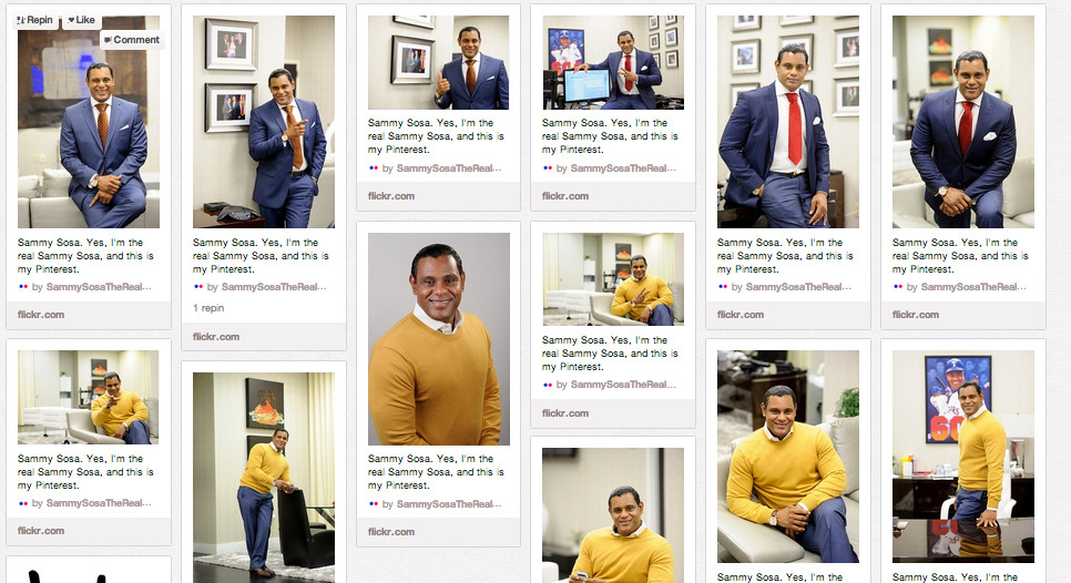 Sammy Sosa has the best Pinterest page ever