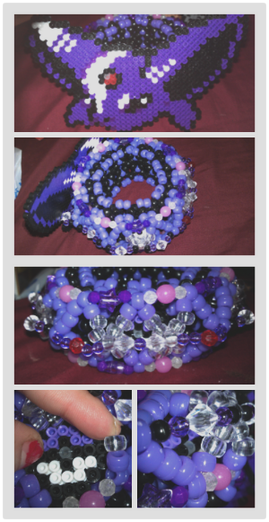 Espeon themed cage cuff for snowglobeactivatur~ I am sooo proud of this 3d. :3 There are three hidden pokeballs attached to the xbase (photo'd above~)  Sorry for crummy image quality lovely, but I hope you like it~ eeeep!  Everything else shall remain a surprise!