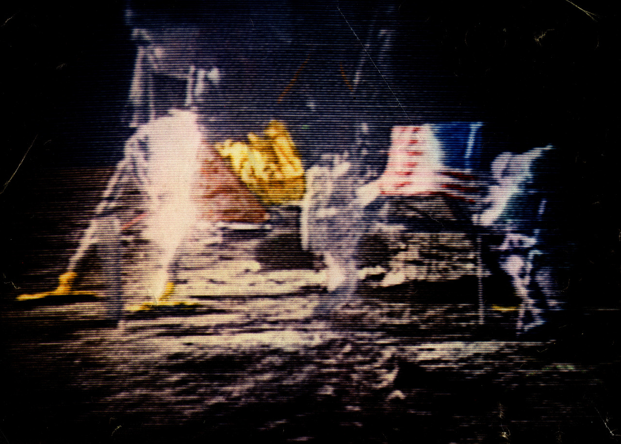 FIRST COLOR IMAGE PUBLISHED FROM THE LUNAR LANDING - 1969