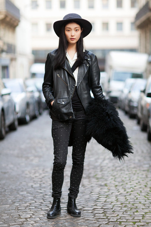 Sung Hee Kim on the streets of Paris.