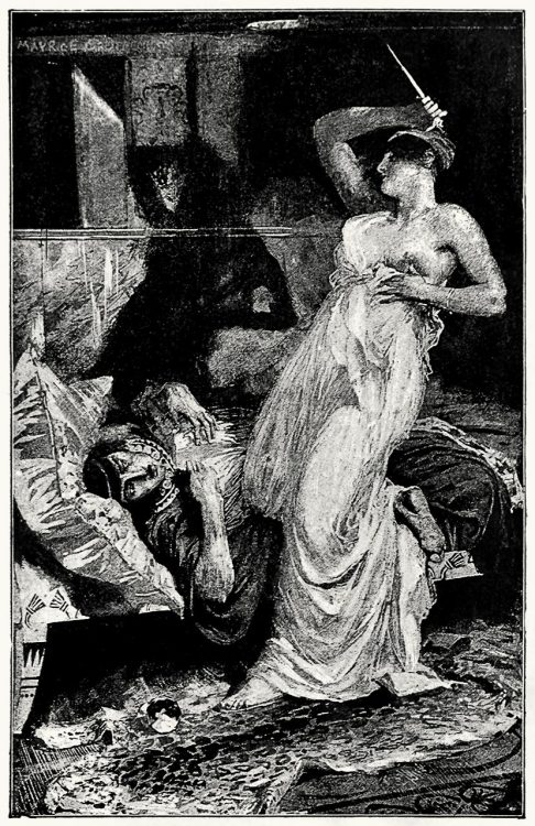 """I've won,"" she cried.  from Cleopatra, by Henry Rider Haggard, London, 1894.  (Source: archive.org)"
