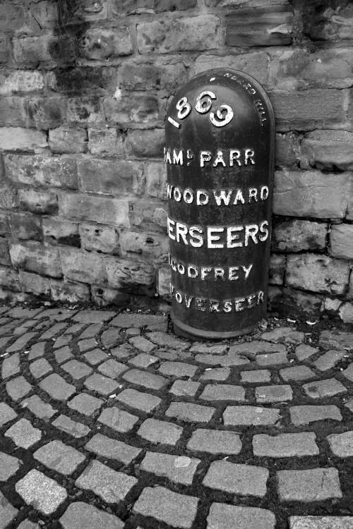 Victorian parish boundary marker. Nottingham, January 2013.
