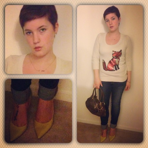 Had fun with my date night look! Wearing some comfy faves - What Not To Wear always makes me step my game up! #fashion #datenight