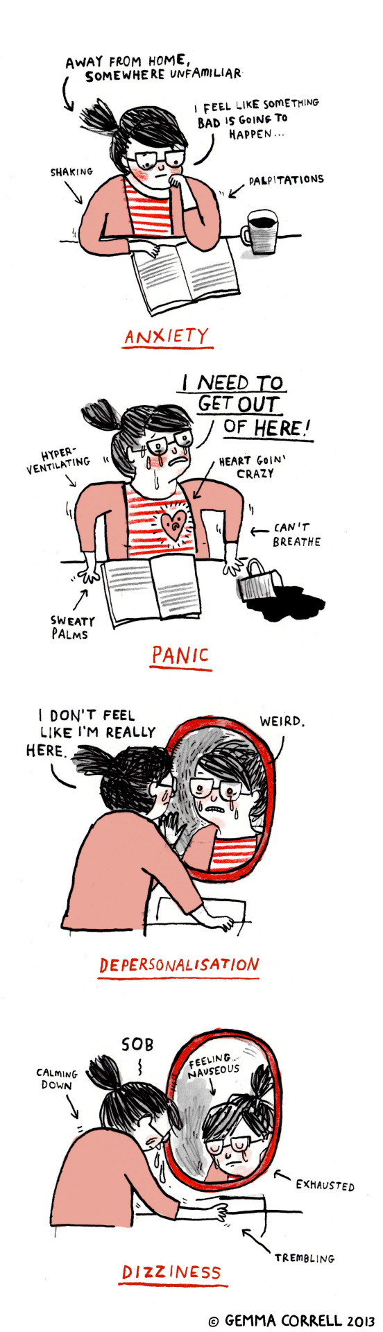 A post from Gemma Correll all about agoraphobia.