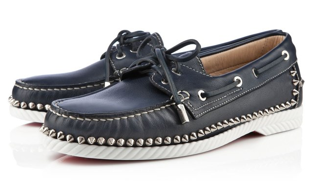 theclassyissue:  Christian Louboutin Studded Boat Shoes