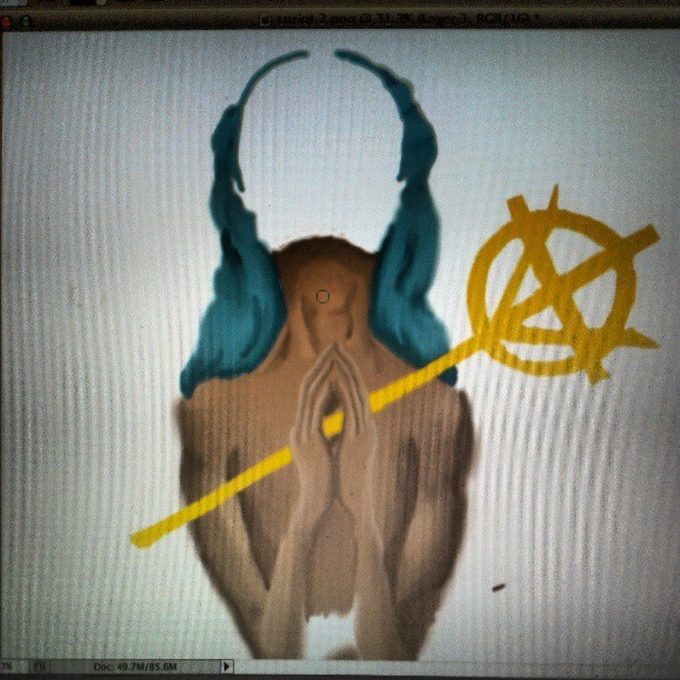 #wip getting used to this wacom tablet in Photoshop #art  #digitalart