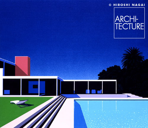 floopydisc:  weouthere2010:  Selected works of Hiroshi Nagai. He painted figurative* depictions of 80s Miami mixed with 50s surf culture. Great art, but prints of his stuff are beyond difficult to find.  yea