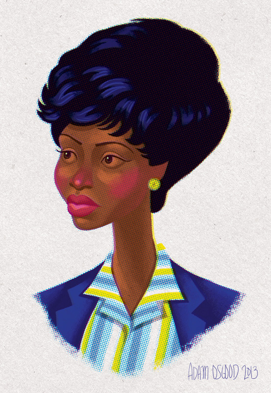 Follow-up to my 2009 portrait set, here is Dawn Chambers from Mad Men. See more Mad Men portraits here.