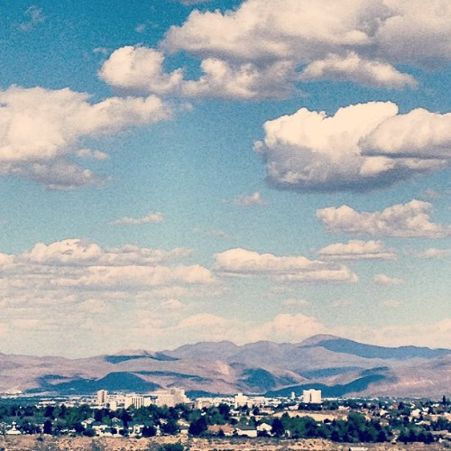 Downtown #Reno in the distance. #Nevada #nvmag  (at Downtown Reno)