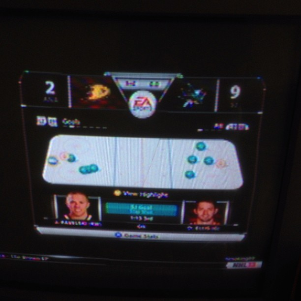 Just finished playing against the ducks on NHL13 I guess I kinda won?!?!