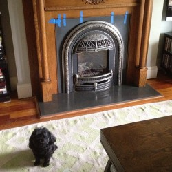 Our new fireplace! From our friends @workshopdenver - the handsomest and sweetest and most talented handcrafters I know!