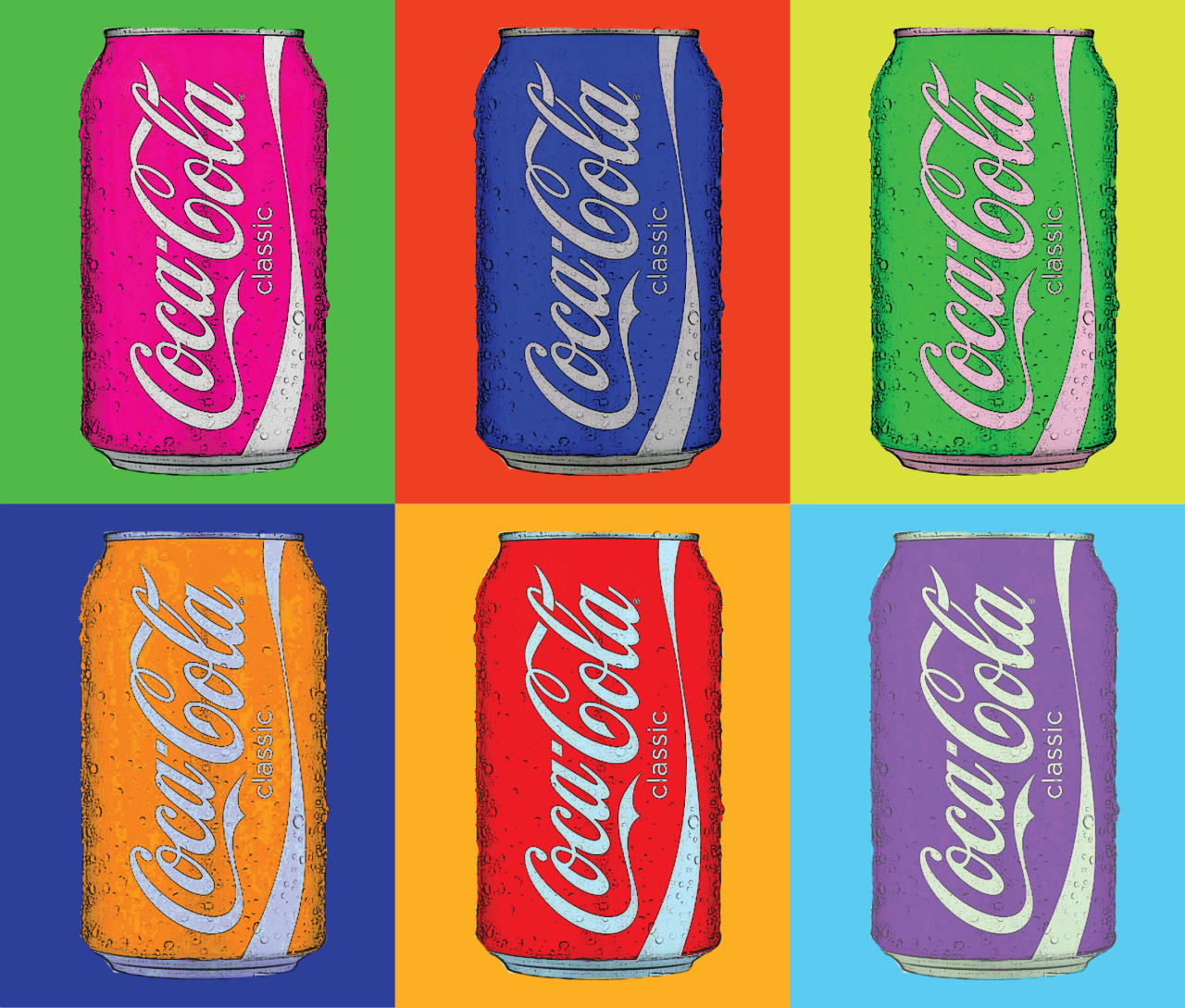 Andy warhol pop art coca cola car interior design