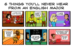 tetragona:  6 things you'll never hear from an english major   Inaccurate.  I hate coffee.  :)