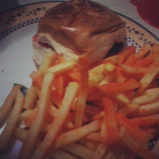 Home made #burger and #fries :)) #food #foodgasm #yum #dinner #instagood #IGersphilippines #f4f