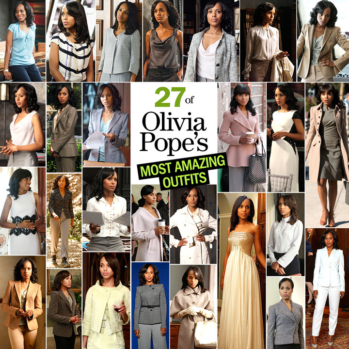 Cosmopolitan - 27 of Olivia Pope's Most Amazing Outfits! (Hats off to Kerry Washington and Scandal's amazing costume designer, Lyn Paolo!) #ItsHandled #GladiatorOvation