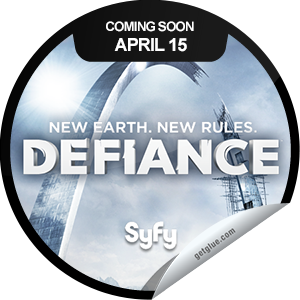 I just unlocked the Defiance Coming Soon sticker on GetGlue                      10900 others have also unlocked the Defiance Coming Soon sticker on GetGlue.com                  Prepare for Arkfall! It's a Brave New Earth and the wide and wonderful world of Defiance is ripe for exploration. Watch the Show. Play the Game. Change the World. Defiance premieres Monday, April 15th at 9/8c! Share this one proudly. It's from our friends at SyFy.