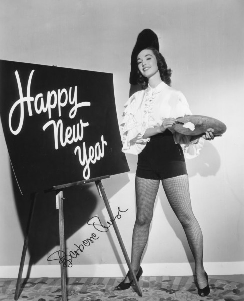 theniftyfifties:  New Years with Barbara Rush, 1950   New Years with shawtykonglee, 2013