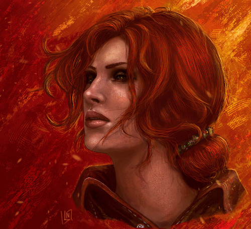 I have drawn her at last ^^  Triss Merigold from the Witcher 2 http://blackassassin999.deviantart.com/art/Triss-368161919
