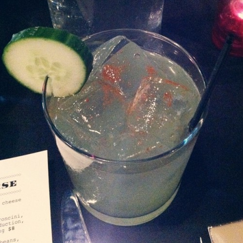 The Viper had me at Patron. [Patron silver, orange liqueur, lime juice, cucumber water, cayenne pepper] @5church #anniversary #dinner // {the five senses} in the Queen City #5senses #taste #cltfood #eatlocal #uptown #charlotte #clt #birthday #tequila  (at 5 Church)