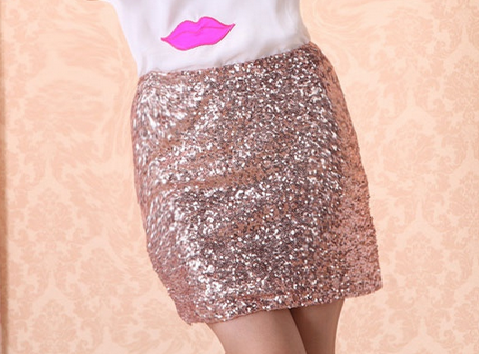 tiaraless:  Sequin Pencil Skirt