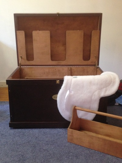 windswept-warmbloods:  Finally got the nerve up to get my tack box from my old barn! Only took a year! I brought it home and now it's in the art studio for some major spring cleaning. I missed it! 😊😍