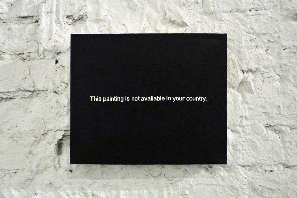atavus:  Paul Mutant - This Painting is Not Available in Your Country, 2010 Website | Tumblr