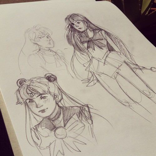 1653:  Let's draw some sailor moon characters