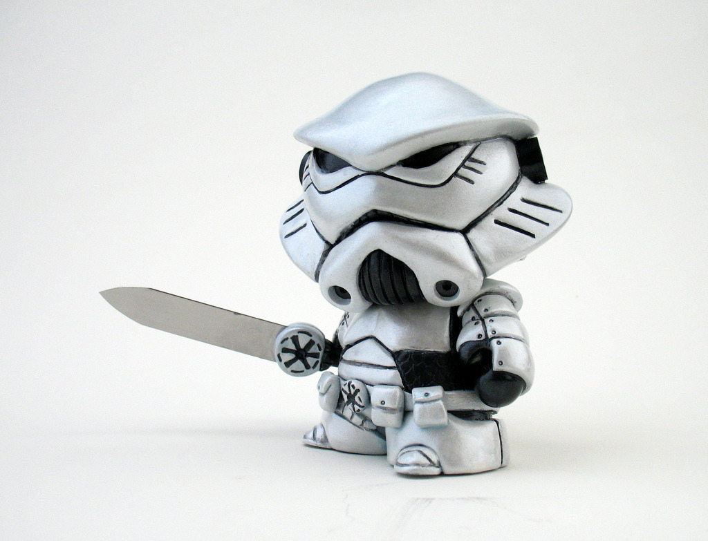 """Stormtrooper Knight"" Custom Mini Munny by Josh ""fplus"" Pearce. Commissioned. via"