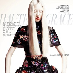 @soojmooj in W #Korea #Wmagazine #haircolor #platinum #asian #pink #prettyinpunk #paintedbyme   #auracolorist  (at Sally Hershberger Downtown )