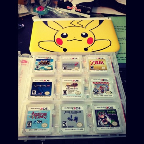 My 3DS and games :c I need to finish literally every single one.