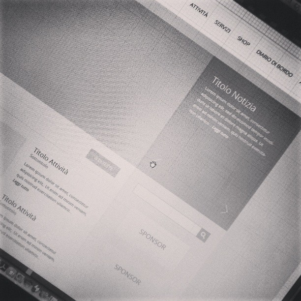 Uairfremiando. / #pixelgnow / #WIP at @pixelgdesign / #web #design #studio #wireframe #screenshot #project #instagramhub #workoftheday  (presso WebPaté)