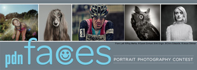 "Call for Entry! PDN ""faces"" Portrait Photography Contest Deadline: May 25, 2013, at 11:59 pm PST One PROFESSIONAL GRAND-PRIZE winner will receive:  An on-campus photography workshops from Anderson Ranch Arts Center. Located in beautiful Aspen/Snowmass, CO. Anderson Ranch Arts Center is a pioneer in photographic and digital media workshops. Winner may select from workshops for Summer 2013 or Summer 2014. The prize includes on-campus housing, meals and studio fees. The prestigious faculty includes some of the top photographers, photojournalists and instructors practicing today, in workshops for all skill levels. ($2,200. Value) A $500 gift certificate from Adorama. PROFESSIONAL AND AMATEUR GRAND-PRIZE winners will both receive:  The new Apple iPad CATEGORY PRIZES:FIRST-PLACE PROFESSIONAL WINNERS will receive:  A Nikon DSLR Camera PhotoServe portfolio (worth $860) FIRST-PLACE AMATEUR WINNERS will receive: A Nikon COOLPIX camera ALL FIRST-PLACE WINNERS will receive: $100 gift certificate from Adorama A PDN PhotoPlus International Gold Expo Pass A Nielsen Photo Group Membership Package(worth $125) and a Crumpler bag For more information on contest rules visit: http://2013faces.nielsencontests.com/2013faces/rules.shtml"
