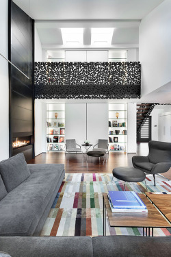 freshome:  Stylish Mansion in Canada Adorned With a Surprising Black-Dotted Staircase