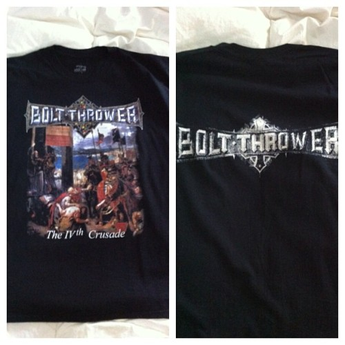 coreshirts4sale:  Bolt Thrower shirt. Size XL. SELLER - Email-averysweettreat99@gmail.com. #boltthrower #coreshirts4sale
