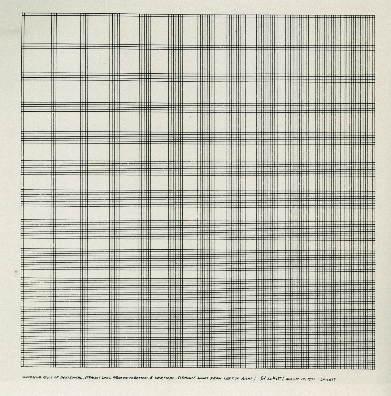 Sol Lewitt, The FieldWorker, 1975