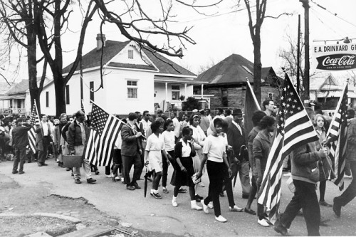 "March 21, 1965: Civil Rights Demonstrators Begin March to Montgomery, Alabama On this day in 1965, two weeks after ""Bloody Sunday,"" civil rights demonstrators began their third attempt to march to Montgomery, Alabama from Selma. The march's purpose was to denounce unfair state laws and local violence that kept African Americans from voting. On March 25, 25,000 marchers arrive at the State Capitol building in Montgomery. Soon afterward, the U.S. Congress passed the Voting Rights Act of 1965, forcing states to end discriminatory voting practices.Visit American Experience's Eyes on the Prize site to explore the milestones of the Civil Rights Movement.  Photo: Participants marching in the civil rights march from Selma to Montgomery, Alabama, in 1965. (Library of Congress)"