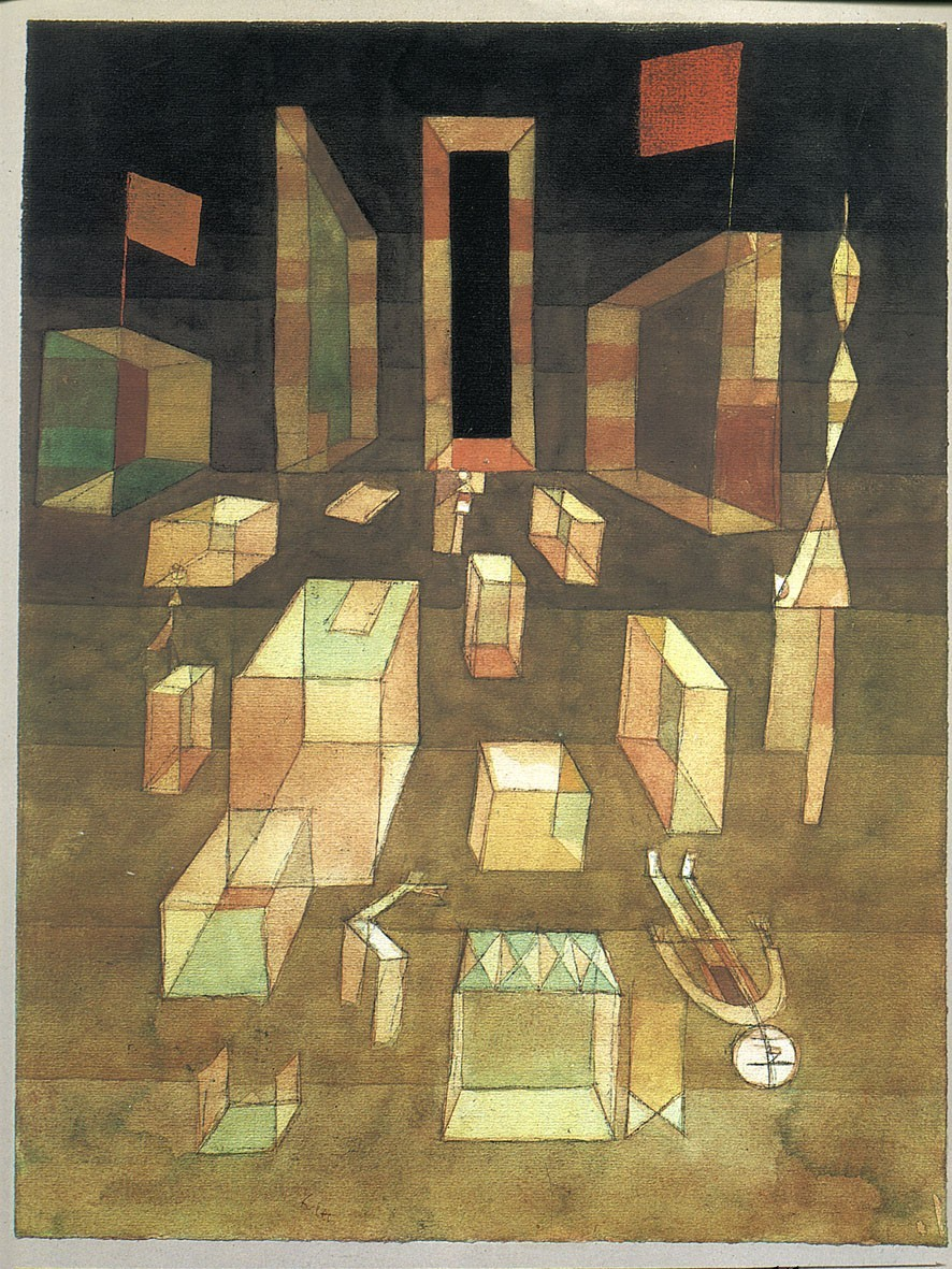 grupaok:  Paul Klee, Nichtkomponiertes im Raum (Uncomposed in Space), 1929, as seen on the cover of the Blackwell translation of Henri Lefebvre's The Production of Space, 1991.