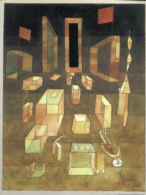 grupaok:  Paul Klee, Nichtcomponiertes im Raum (Uncomposed in Space), 1929, as seen on the cover of the Blackwell translation of Henri Lefebvre's The Production of Space, 1991.