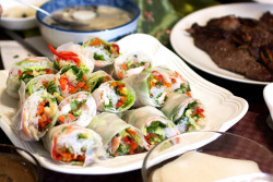 gastronomyfiles:  summer rolls @ mom's (by bionicgrrrl)