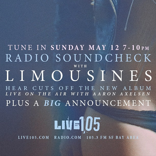 This Sunday. Listen in as we debut songs from Hush on Live105 and be listening when we make another big announcement.