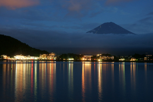 lights of Lake Kawaguchi by peaceful-jp-scenery on Flickr.