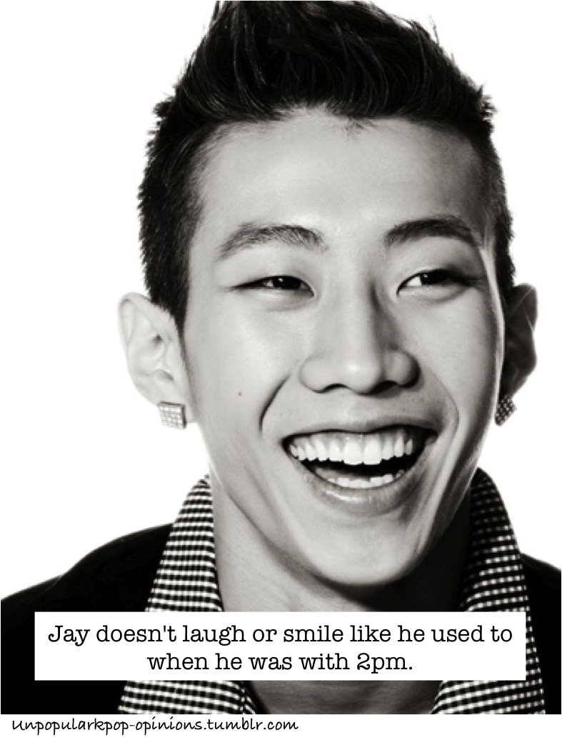 unpopularkpop-opinions:  Jay doesn't laugh or smile like he used to when he was with 2pm.