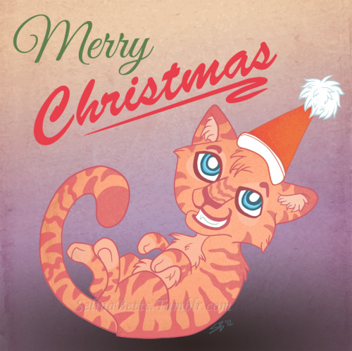 Hello Tumblr + my beloved followers!Merry Christmas! I hope you all have a wonderful day and are overwhelmed with lots of food and presents! :D <3   (Edit: Sorry had to replace the horrid text I tried to draw before D; )