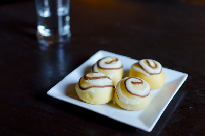Chinatown Brasserie - Custard Baos by Cheeryvisage on Flickr.