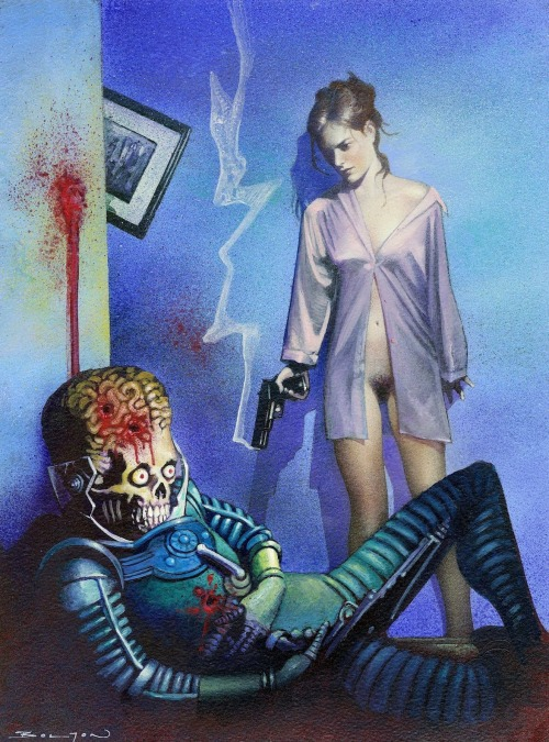 sciencefictiongallery:  John Bolton - Mars Attacks